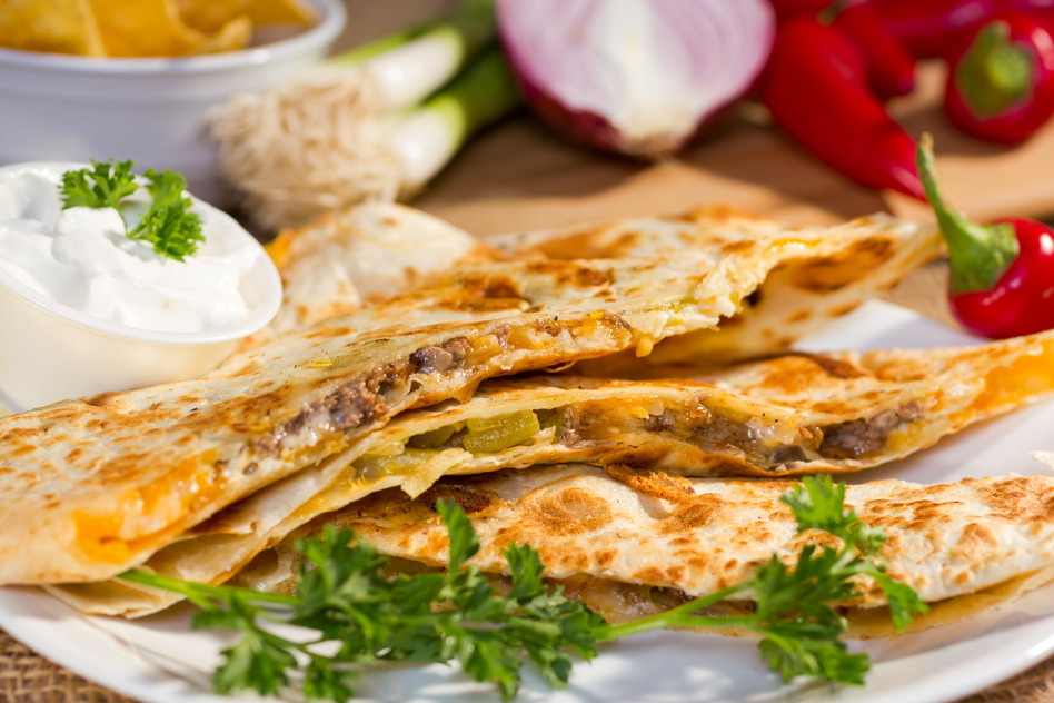 Super simple school lunch Quesadilla