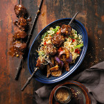 Glazed Beef Kabobs with Easy Asian Eggplant Recipe