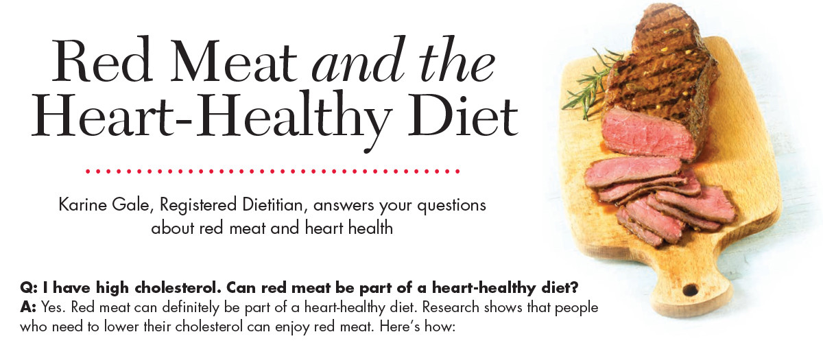 Red Meat and the Heart-Healthy Diet