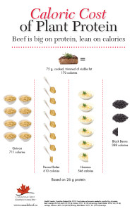 Canada Beef: Caloric Cost of Plant Protein Poster