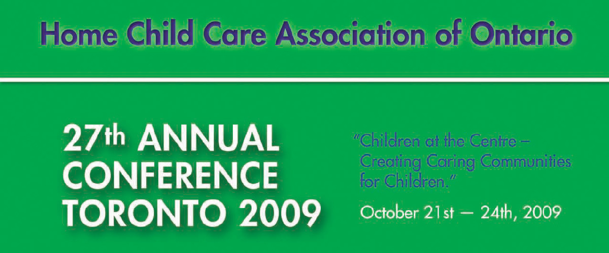 Home Child Care Association of Ontario conference