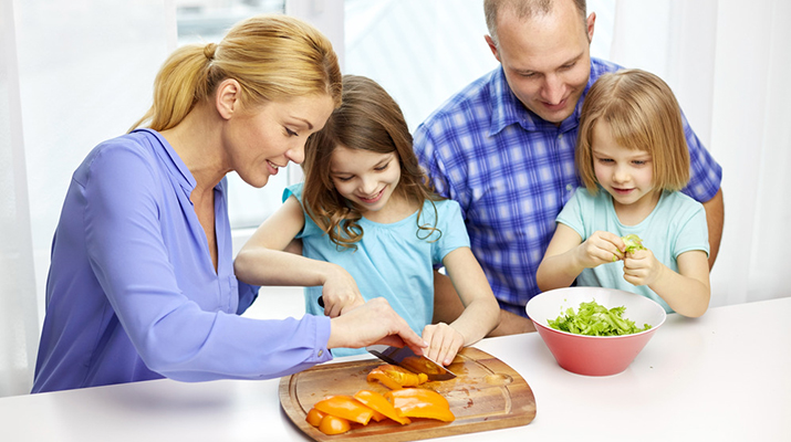 What are some safety tips for cooking with kids?