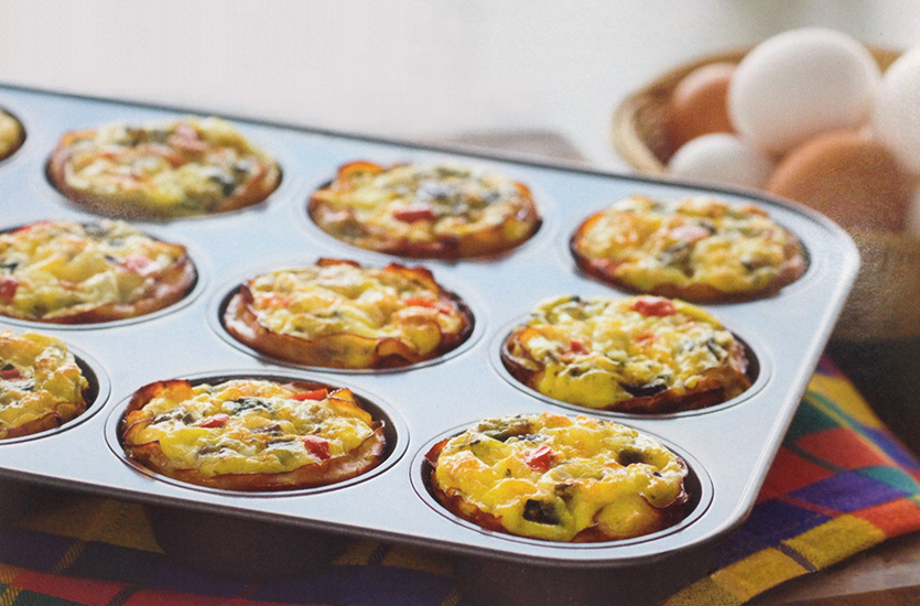 Lunchbox Veggie-Cheese Muffin Frittatas