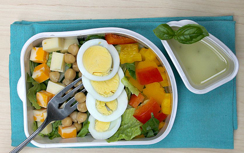 Mr. Cobb school lunch salad