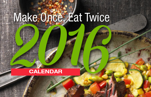 Make Once Eat Twice 2016 Canada Beef Calendar