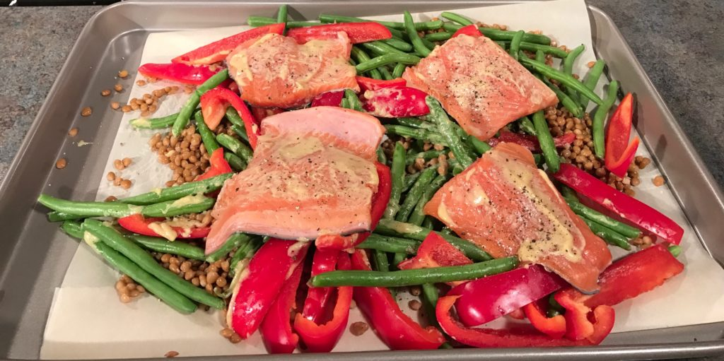 trout sheet pan dinner leftovers for lunch