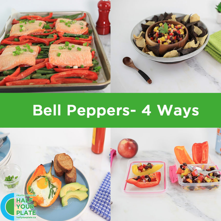 Bell peppers 4 ways