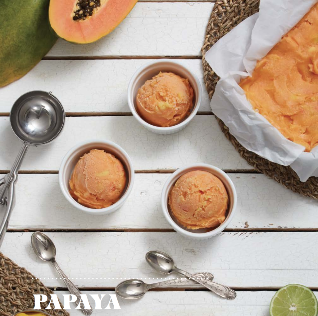 Papaya Mango Sorbet, Crop Life Canada, Recipes