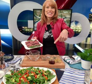 Global TV Vancouver, Summer salads, steak, half your plate, carrot, avocado