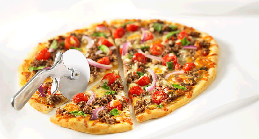 So Simple Beef Provolone Pizza