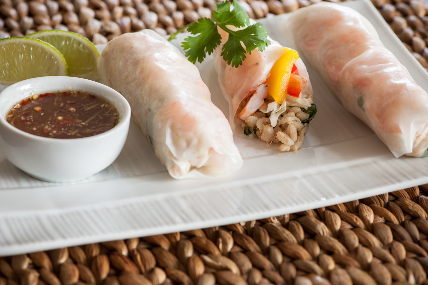 Barley spring rolls for school lunches