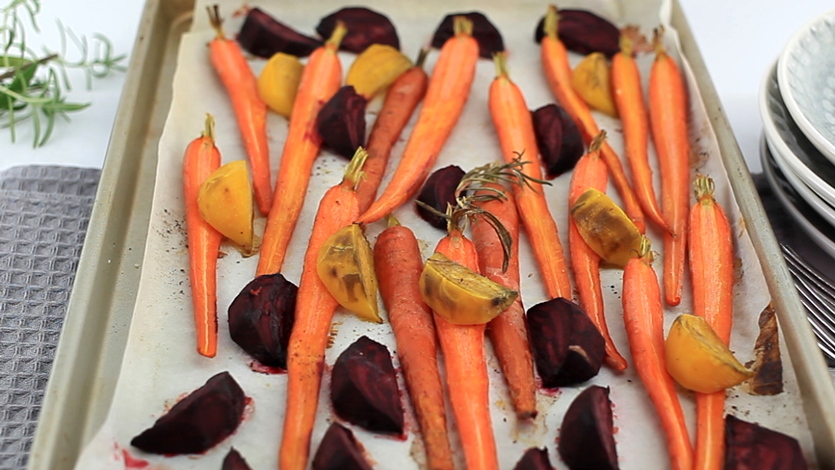 Roasted carrots and beets, vegetable